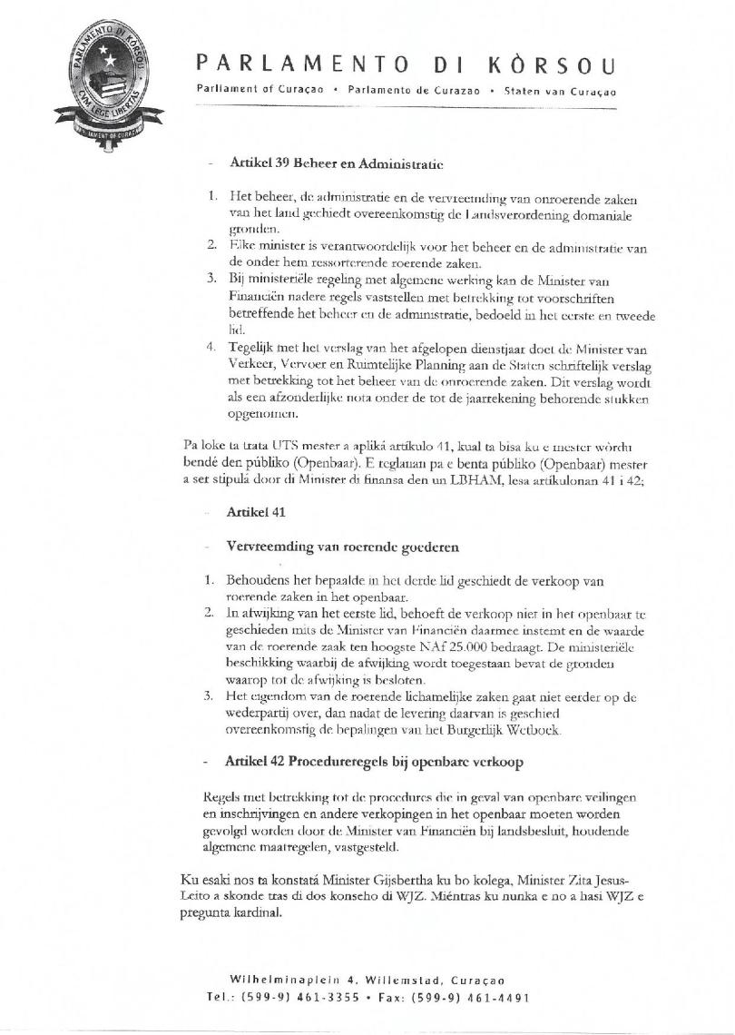 Pregunta - Na Minister Gijsbertha relashona ku benta di UTS-page-002