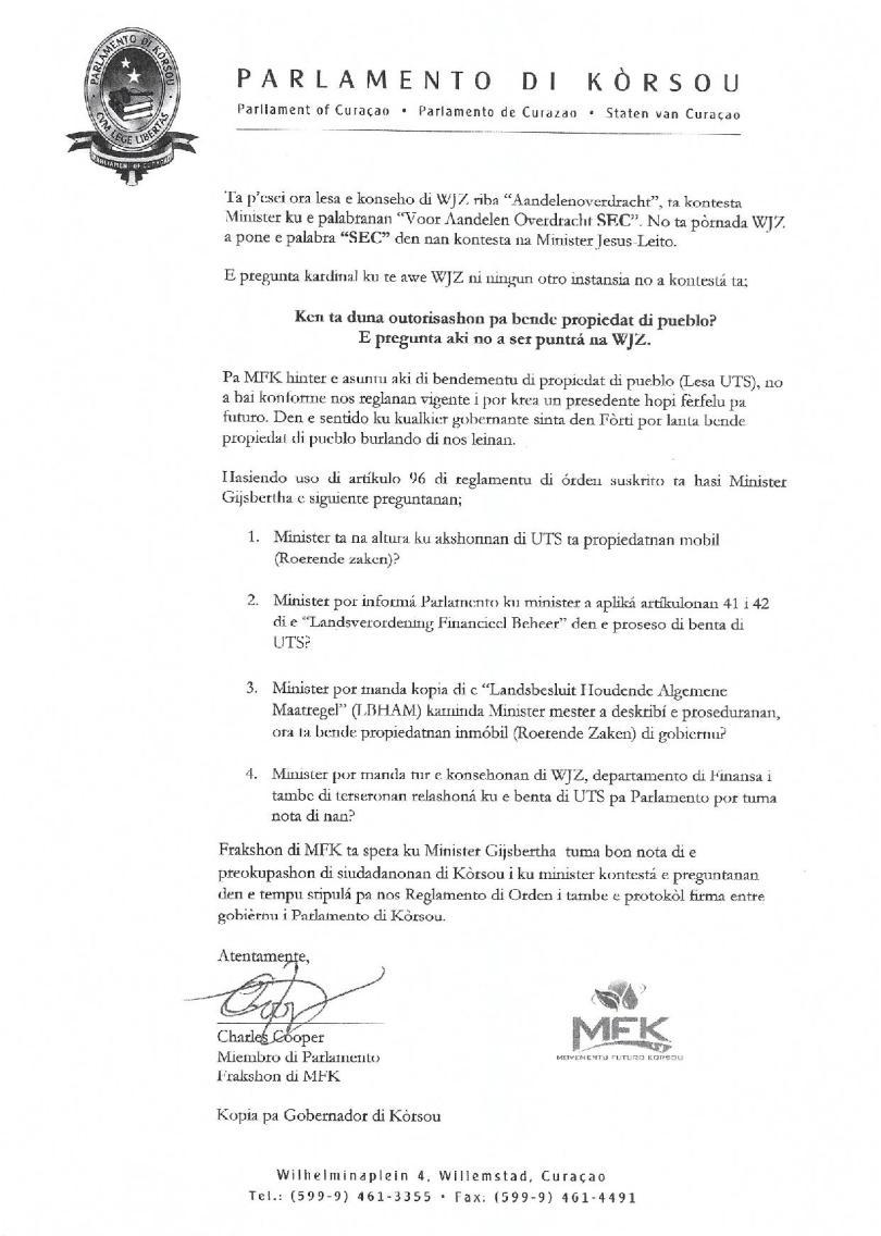 Pregunta - Na Minister Gijsbertha relashona ku benta di UTS-page-003